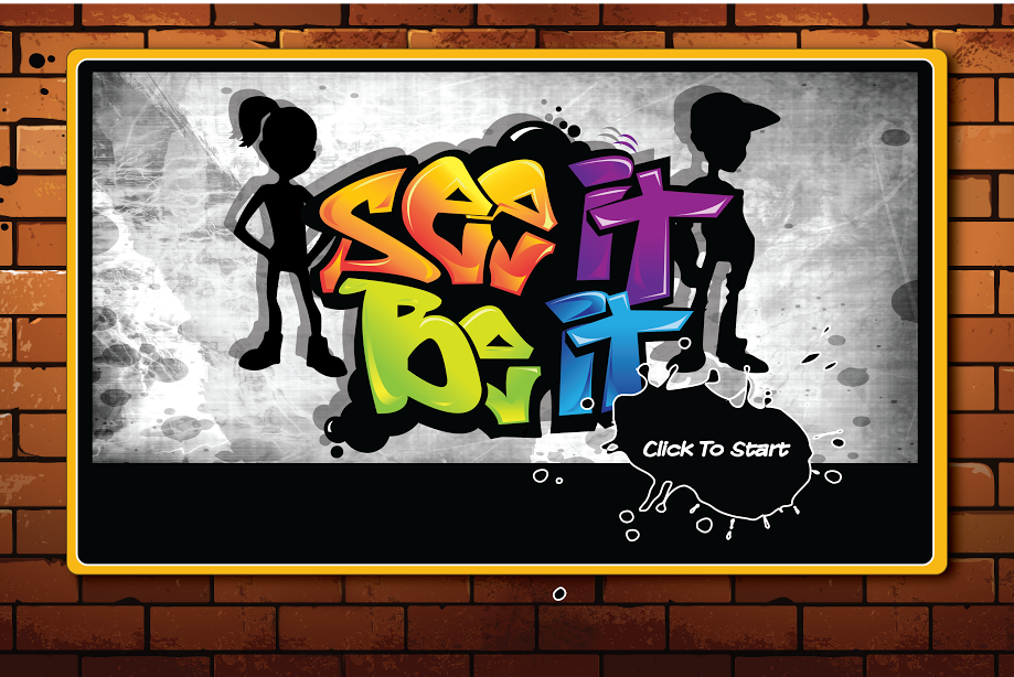 See It Be It logo on concrete and brick background
