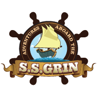 The logo for Adventures Aboard the S.S.GRIN