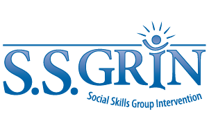 The logo for S.S.GRIN, Social Skills Group Intervention